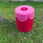 mein neuer rosaroter Kabeltommel-Hocker...