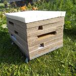 ein Blick ins Innenleben: Naturlatex auf Fully-Recycling-Karton