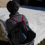 All-In-One-Taschen-Rucksack als Rucksack in Gebrauch