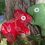 Tierchenpolster rot grün