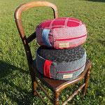 2 Sitz- & Meditationspolster medium, Füllung: Dinkelspelzen kbA.