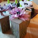 1. Runde BOXenKAMPF: Boxen mit Papierblumen