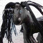 schwarzes Magnet-Einhorn