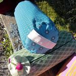 Rolle aus Naturlatex mit Dinkelspelzenkern, Schafwoll -oder Bauwollvlies