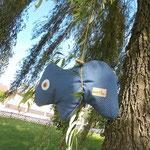 Tierchenpolster blau