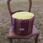 hohes Sitz- und Meditationspolster, Füllung: Dinkelspelzen kbA.
