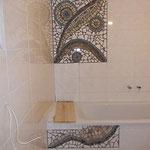 Mosaikfragmente, gerade frisch verfugt