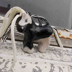 weiß-schwarzes Tinker-Magnetpferd