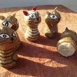 verschiedene Katzen und verschiedene Stempelmotive