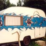 Wohnwagen-Wandmalerei
