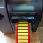 Marquilla TM en impresora de TE