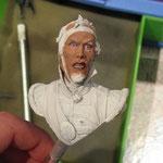 David: acrylique, étape variations des teintes de la peau