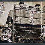 Once Upon a Time - Cirque de Méliès: 48x70; stampa hd su tela fotografica; disegno a china; ricamo a mano con filo di seta.