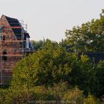 20.09.2005, Die Sicherungsarbeiten am Südgiebel waren bereits abgeschlossen. Wenig später wurde das Gerüst wieder entfernt.