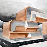 """""""Gebäude"""" – Bleistift, Wasserfarben (copyright: Christian Seidlitz)"""