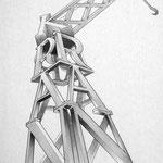 """Kran"" – Bleistift (copyright: Christian Seidlitz)"