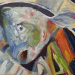 Fischkopp, Acryl auf Leinwand, 2014, 30 x 30