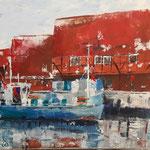Im Alten Hafen  40x50  2016  Acryl auf Leinwand