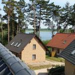 Blick vom Dach unseres Hauses zur Müritz