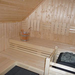 Innenansicht der Sauna