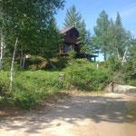 le cottage, vu de la plage