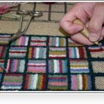 les tapis hookés: spécialité artisanale de Chéticamp.