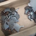 feuilles de gingko en découpe laser