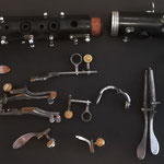 Première étape pour un retamponnage de clarinette...