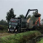 Rups snipperaar vrachtwagen