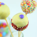 Cakepop mit weißem Schokoüberzug