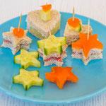 Kindergeburtstag Rezepte - Mini Sandwiches