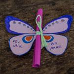 Schmetterlingseinladung - selbst gemachte Einladungskarte für Kinderparty und Kindergeburtstag