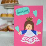 Einladung Prinzessin Kindergeburtstag und Kinderparty