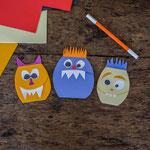 Einladung Kindergeburtstag: Monsterkarten