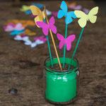 Schmetterlingsdeko - Frühlingsdekoration für Kinderparty und Kindergeburtstag