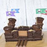 Kindergebuertstag Kuchen als Ritterburg