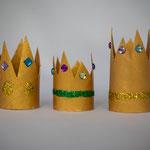 Goldene Krönchen - selbst gemachte Deko für Kinderparty und Kindergeburtstag