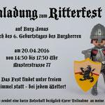 Kindergeburtstag Einladung zum Ritterfest