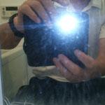 浴室鏡作業前