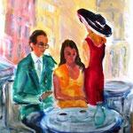 Provence, Acryl auf Leinwand,70x50