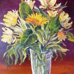 Blumen 3, Öl auf Malplatte, 50x40