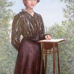 Anna,Öl auf Hartfaserplatte, 40x30