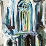Gothic, Kohle und Kreiden, 40x30
