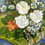 Blumen 2, Öl auf Malplatte, 50x40