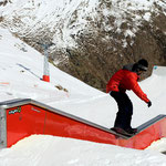 Rail descente-plat-descente - Snowpark Artouste 2011