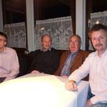 Der neue Vorstand: Frank Schuhmacher, Felix Backmeister, Wilfried Gruber, Philipp Köppl