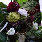花束:野草系のお花を入れてナチュラルに。50㎝位の長さにまとめてあります。