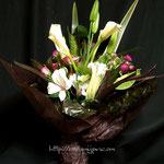 花束:金婚式のお祝いに。60㎝位の長さにまとめてあります。