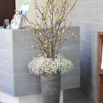生け込み:枝物で季節感を