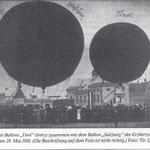 Ballonaufstieg in Pradl 1910
